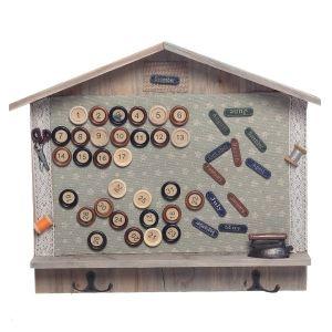 Купить Панно РЕМЕКО 651587 Календарь с крючками 39*5*32 см цвет дерево/серый