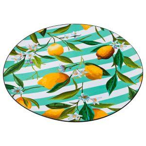 Купить Поднос Арти М 106-543 Лимоны 40 см цвет зелёный/жёлтый