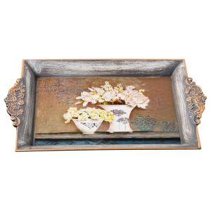 Купить Поднос Арти М 106-550 Старинный прованс 32*20 см цвет серый/бронза