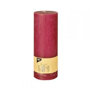 Купить Свеча Европак Трейд 84683 70*100 цвет рустика малиновый