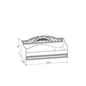 Купить Кровать Компасс СО-25К+СО-253 Соня цвет белый структурный/белое дерево