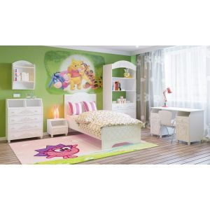 Купить Детская Компасс Соня цвет белый структурный/ясень патина