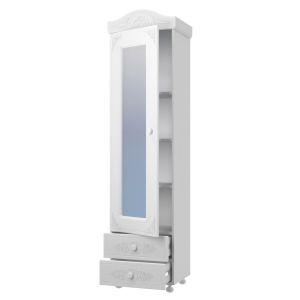 Купить Пенал Компасс АС-1 с зеркалом Ассоль цвет белое дерево