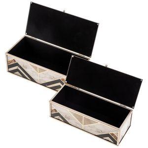Купить Набор шкатулок Арти М 108-151 (2 шт.) Модерн цвет бежевый/коричневый