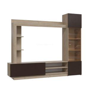 Купить Тумба под телевизор Гранд Кволити 6-9165 Бруно цвет дуб ривьера/коричневый