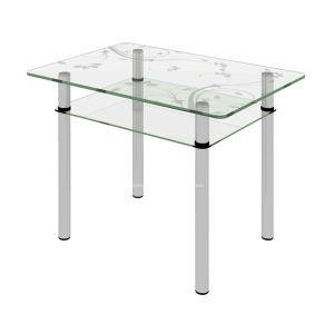 Купить Стол Сакура Киото-27 цвет стекло прозрачное (2-1) П14/D50 хром