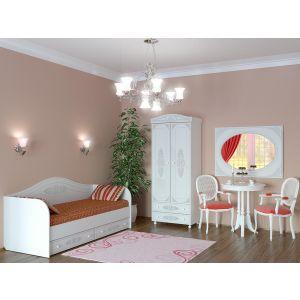 Купить Кровать Компасс АС-10 Ассоль цвет белое дерево