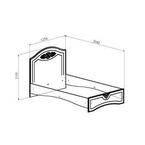 Купить Кровать Компасс АС-111К без ламелей и опор + АС-111 Ассоль цвет белое дерево