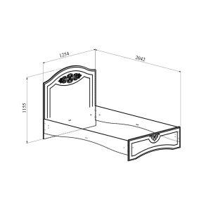 Купить Кровать Компасс АС-111К без ламелей и опор + АС-111 Ассоль плюс цвет ваниль