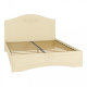 Кровать Компасс АС-111К без ламелей и опор + АС-111 Ассоль плюс цвет ваниль