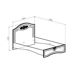 Купить Кровать Компасс АС-112К без ламелей и опор + АС-112 Ассоль цвет белое дерево