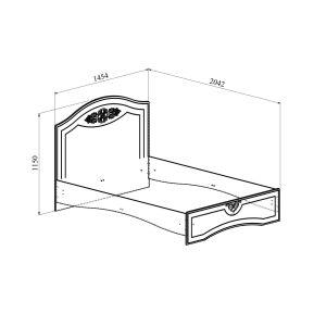 Купить Кровать Компасс АС-112К без ламелей и опор + АС-112 Ассоль плюс цвет ваниль