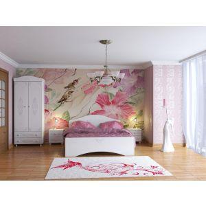 Купить Кровать Компасс АС-113К без ламелей и опор + АС-113 Ассоль цвет белое дерево