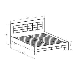 Купить Кровать Компасс ИЗ-321К без ламелей и опор + ИЗ-321 Изабель цвет береза снежная/клен