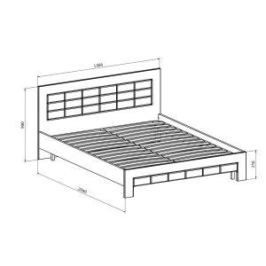 Купить Кровать Компасс ИЗ-322К без ламелей и опор + ИЗ-322 Изабель цвет береза снежная/клен