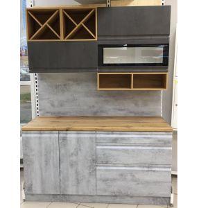 Купить Кухонный гарнитур Leko Бронкс 1.6 с боксвставками цвет бетон/доломит