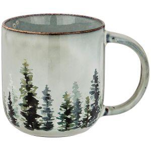 Купить Кружка Арти М 739-107 14*9,5*10 см 550 мл цвет серый/зелёный