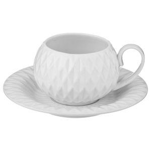 Купить Чайный набор Арти М 374-070 на 2 персоны (4 предмета) 200 мл Розовый цвет белый/розовый