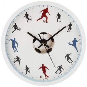 Купить Настенные часы Арти М 220-366 Футбол 31/27,5 см цвет белый/голубой/черный