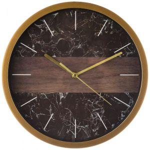Купить Настенные часы Арти М 220-386 Marble 31/27,5 см цвет чёрный/золото