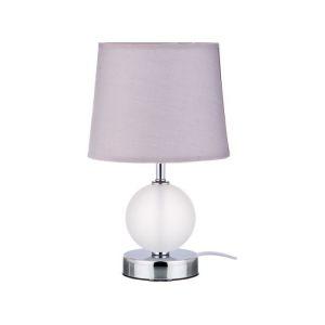Купить Светильник Арти М 134-114 настольный с абажуром Е14 29*18 см цвет белый/серебро