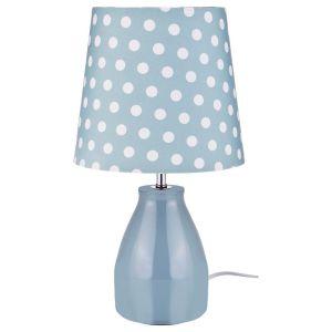 Купить Светильник Арти М 134-133 настольный с абажуром Е14 37*20 см цвет голубой