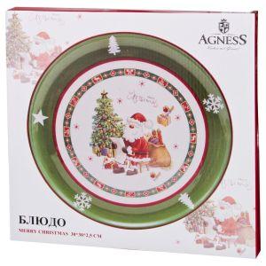 Купить Блюдо Арти М 358-1480 Merry Christmas 30*30*2,5 см