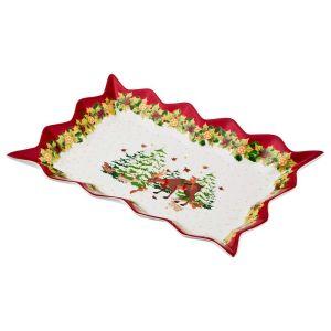 Купить Блюдо Арти М 85-1524 для слоеных салатов X'Mas 25*15*3,5 см