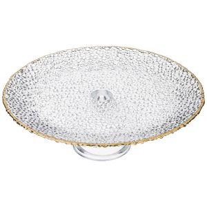 Купить Тортовница Арти М 484-629 Clamour 28*10 см цвет белый/золотой