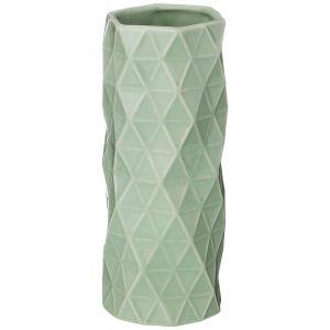 Купить Ваза Арти М 146-1354 Геометрия 7,5*7,5*18 см цвет зелёный
