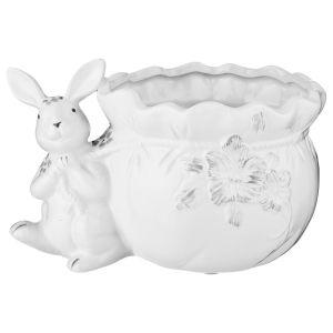 Купить Кашпо Арти М 791-098 Гермелин 20*14*11,5 см цвет белый