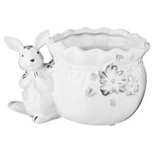 Купить Кашпо Арти М 791-099 Гермелин 16*11*10 см цвет белый