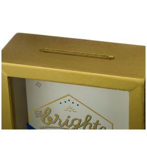 Купить Копилка Арти М 124-116 Счастливого дня рождения 16*20*7 см цвет золотистый