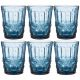 Набор стаканов Арти М 781-108 (6 шт.) Серпентина 270 мл 10 см цвет синий