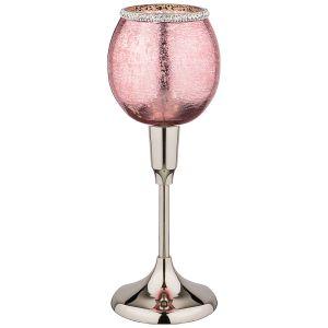 Купить Подсвечник Арти М 875-232 7,5*32 см цвет розовый/серебро