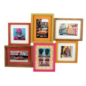 Купить Фоторамка Русские подарки 29845 коллаж Куба для 6 фото 58*44 см цвет мультиколор