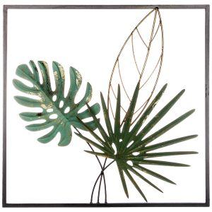 Купить Панно Арти М 680-101 Тропики 50,2*50,2*5,7 см цвет зелёный/золото