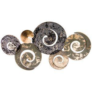 Купить Панно Арти М 680-108 Модный акцент 36,2*66,7*4,4 см цвет чёрный/зелёный/золото