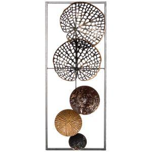 Купить Панно Арти М 680-116 Модерн 20,3*50,8*3,8 см цвет чёрный/золото