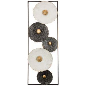 Купить Панно Арти М 680-119 Цветочная симфония 31,1*89,5*3,2 см цвет белый/чёрный/золото