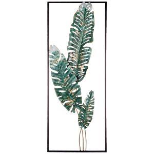 Купить Панно Арти М 680-133 Тропики 28,6*74,3*2,5 см цвет зелёный/золото