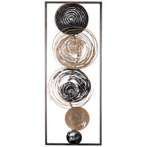 Купить Панно Арти М 680-134 Модный акцент 28,6*74,3*3,8 см цвет чёрный/золото