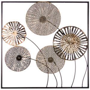 Купить Панно Арти М 680-135 Цветочная симфония 50,2*50,2*4,4 см цвет бежевый/золото