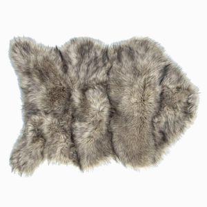 Купить Шкура АРИЯ Ares искусственная 70*105 цвет серый/коричневый