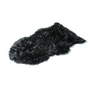 Купить Шкура ЛинкГрупп 25001 овечья искусственная 90*55 см цвет чёрный