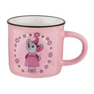 Купить Кружка Арти М 155-304 Милые мышки 180 мл 7,5*6,8 см цвет розовый