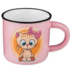 Купить Кружка Арти М 155-316 Милые котята 180 мл 7,5*6,8 см цвет розовый