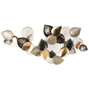 Купить Панно Арти М 680-123 Цветочная симфония 130,2*63,5*7,6 см цвет чёрный/бежевый/золото