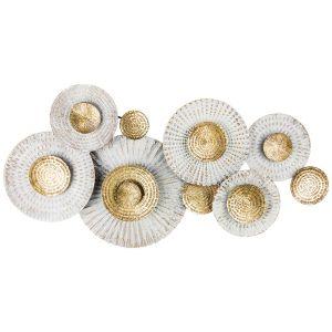 Купить Панно Арти М 680-125 Модный акцент 135,9*68,6*8,3 см цвет белый/золотой