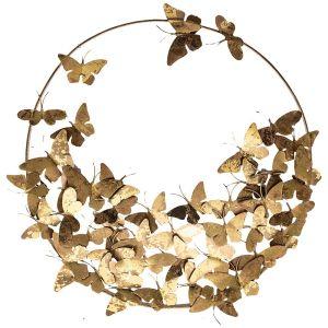Купить Панно Арти М 874-111 Бабочки 79*10*79 см цвет золото